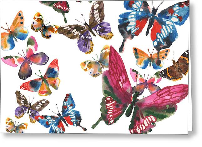 Fantasy Art Greeting Cards - Butterfly Painting Greeting Card by Alison Fennell