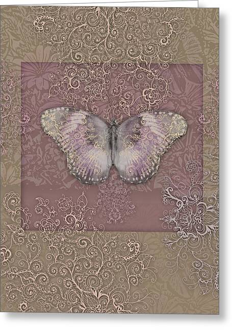 Border Photographs Greeting Cards - Butterfly Paleroses Greeting Card by Alixandra Mullins