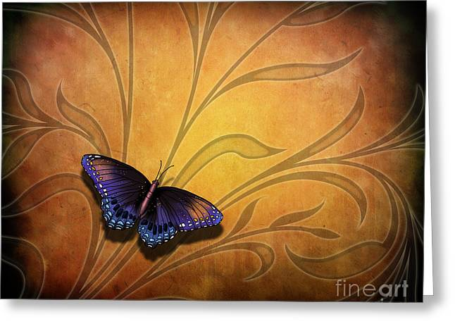 Bedros Awak Greeting Cards - Butterfly Pause V2 Greeting Card by Bedros Awak