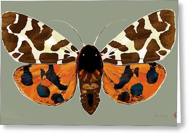 Fluttering Greeting Cards - Butterfly -  pop stylised etching art poster  Greeting Card by Kim Wang