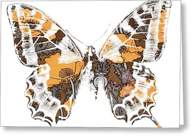 Beauty In Nature Mixed Media Greeting Cards - Butterfly Greeting Card by Ramneek Narang