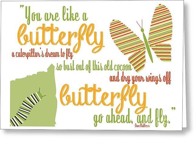 Dave Digital Art Greeting Cards - Butterfly Greeting Card by Sarah St Pierre