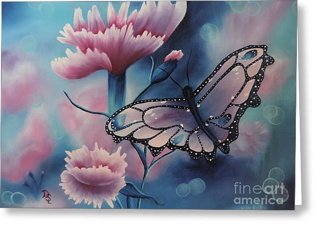 Print On Canvas Greeting Cards - Butterfly series 6 Greeting Card by Dianna Lewis