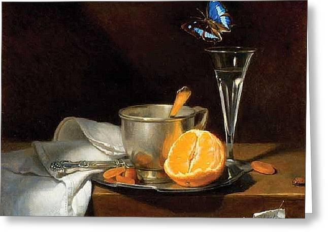 Chardin Greeting Cards - Butterfly Greeting Card by Suzanne Eisler