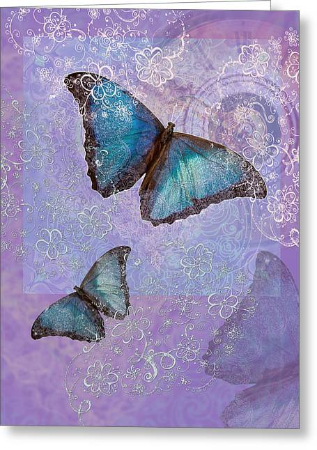 Border Photographs Greeting Cards - Butterfly Time Greeting Card by Alixandra Mullins