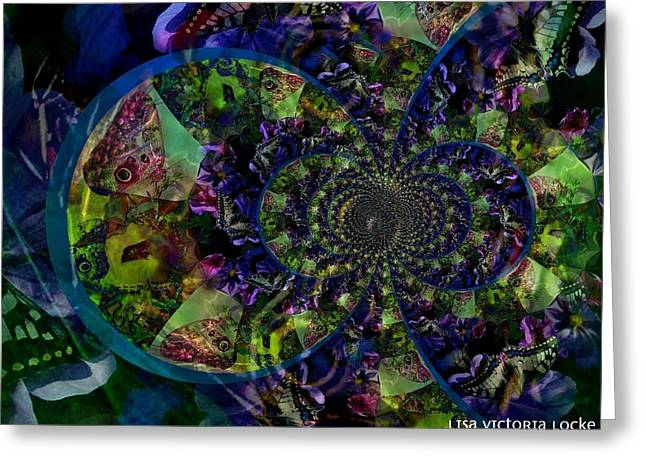 Fractal Art Pastels Greeting Cards - Butterfly Transcendence  Greeting Card by Lisa Locke
