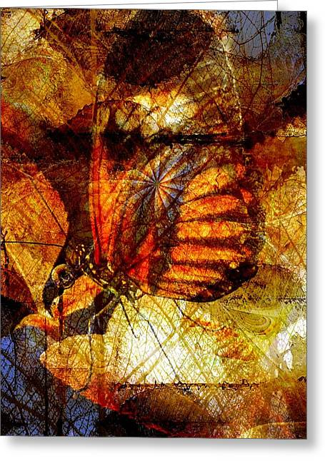 Digital Media Greeting Cards - Butterfly Travels Greeting Card by Amanda Moore