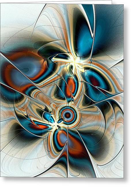 Geek Greeting Cards - Butterfly Vision Greeting Card by Anastasiya Malakhova