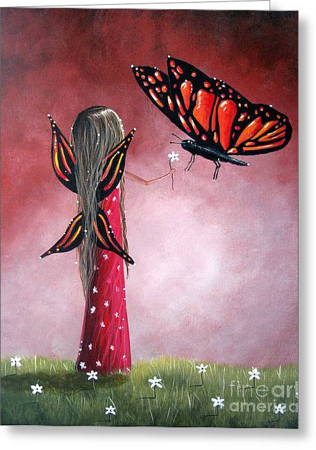 Fairies Greeting Cards - Butterfly Whisperer by Shawna Erback Greeting Card by Shawna Erback