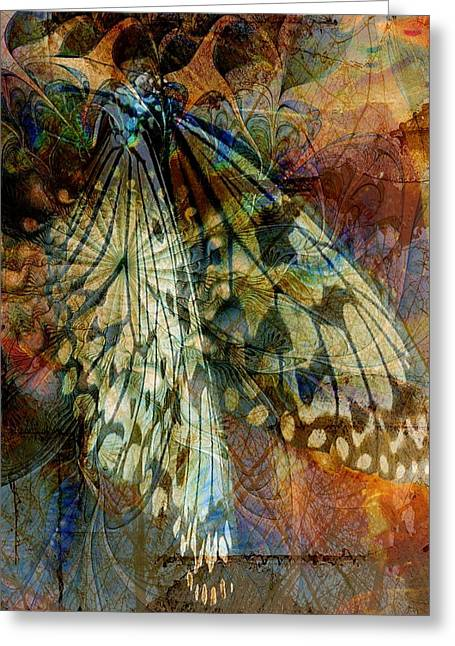 Digital Media Greeting Cards - Butterfly Wings Greeting Card by Amanda Moore
