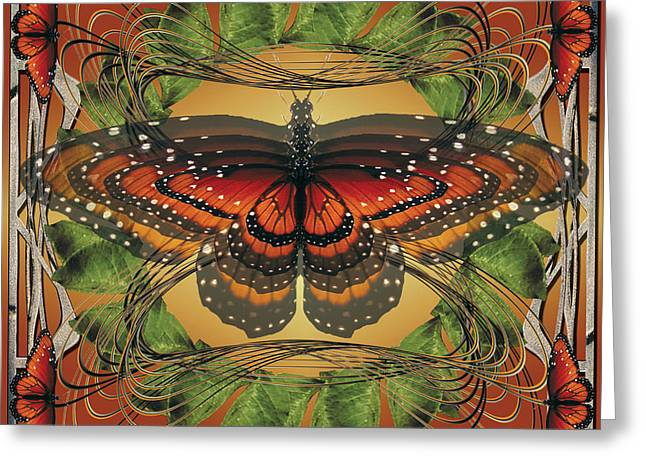 Insects Jewelry Greeting Cards - Butterfly World Greeting Card by Peaceful Spirit