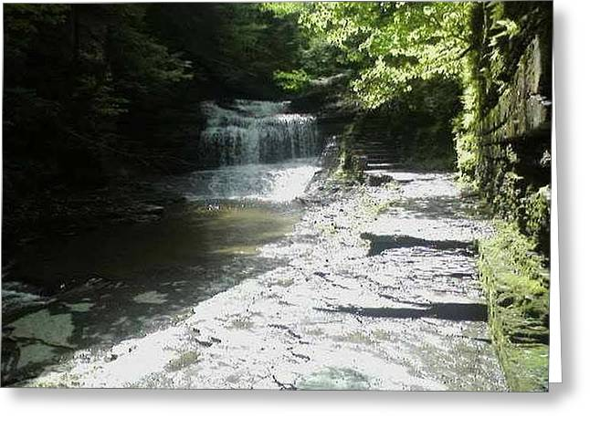Buttermilk Falls Greeting Cards - Buttermilk Bottom  Greeting Card by Christine Degyansky