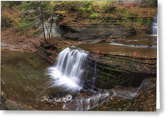 Buttermilk Falls Greeting Cards - Buttermilk Creek Falls Greeting Card by Mark Papke
