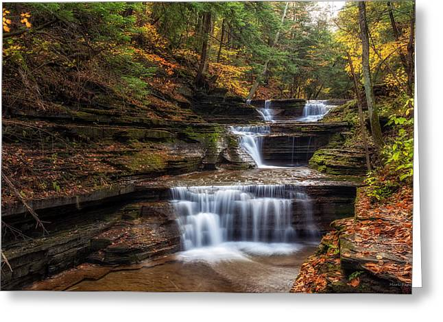 Buttermilk Falls Greeting Cards - Buttermilk Creek Greeting Card by Mark Papke