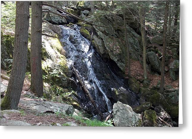 Buttermilk Falls Greeting Cards - Buttermilk Falls 1 Greeting Card by Nina Kindred