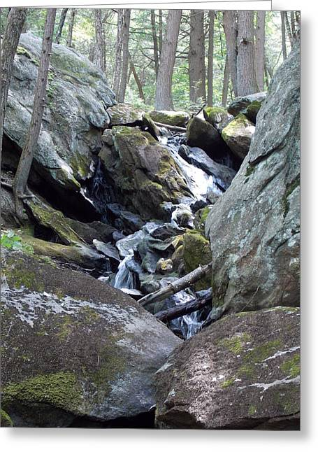 Buttermilk Falls Greeting Cards - Buttermilk Falls 3 Greeting Card by Nina Kindred