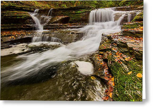 Buttermilk Falls Greeting Cards - Buttermilk Falls Greeting Card by Brad Marzolf Photography