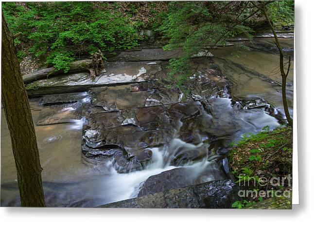 Buttermilk Falls Greeting Cards - Buttermilk Falls Cascade 2 Greeting Card by John Naegely