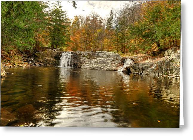 Buttermilk Falls Greeting Card by Dennis Clark