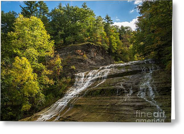 Buttermilk Falls State Park Greeting Cards - Buttermilk Falls Greeting Card by John Naegely