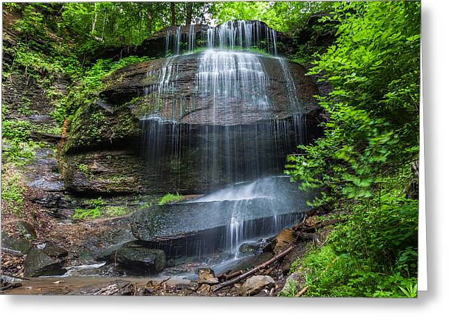 Buttermilk Falls Greeting Cards - Buttermilk Falls Greeting Card by Robert Stough