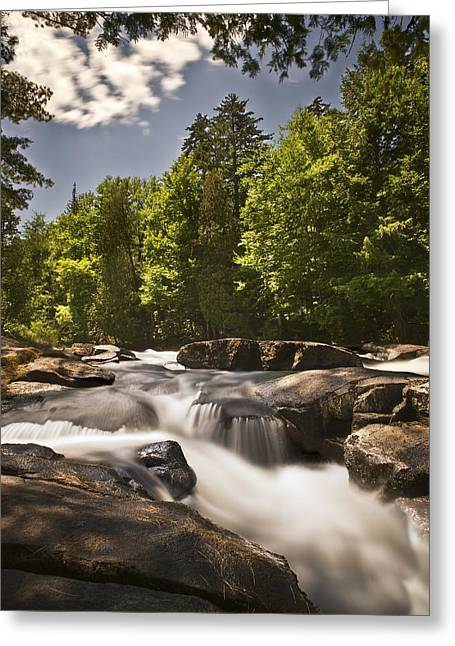 Buttermilk Falls Greeting Cards - Buttermilk Falls Upstream Greeting Card by Michael Pyle