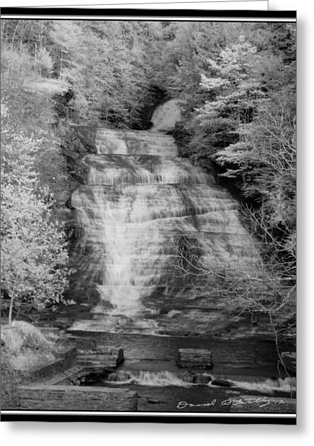 Buttermilk Falls Greeting Cards - Buttermilk Infrared 1 Greeting Card by David Blatchley