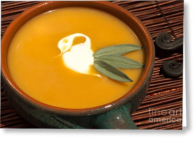 Owner Greeting Cards - Butternut Squash Soup Greeting Card by Iris Richardson