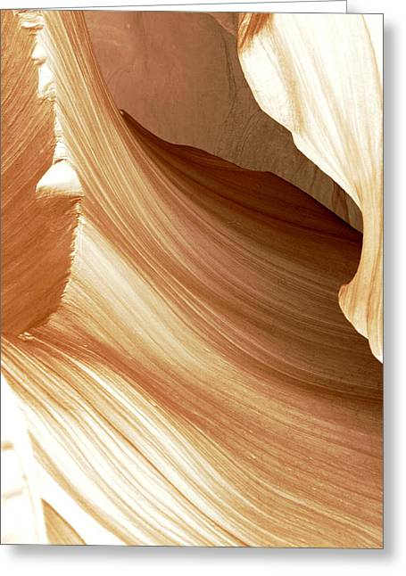 Sand Patterns Greeting Cards - Butterscotch Taffy Antelope Canyon Greeting Card by Evie Carrier