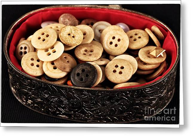 Button Treasures Greeting Card by John Rizzuto
