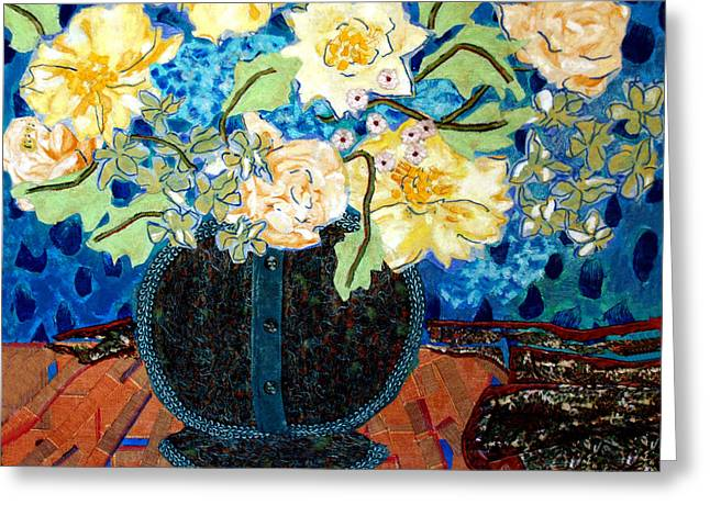 Button up Vase Greeting Card by Diane Fine
