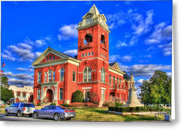 Post-civil War Greeting Cards - Butts County Court House Jackson Georgia Greeting Card by Reid Callaway