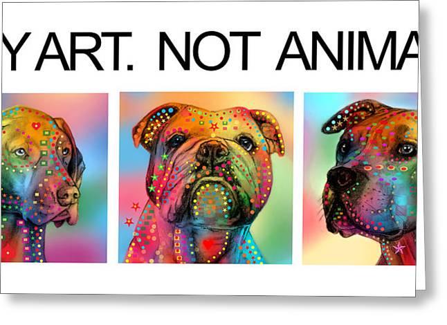 Puppies Digital Greeting Cards - Buy Art  Greeting Card by Mark Ashkenazi