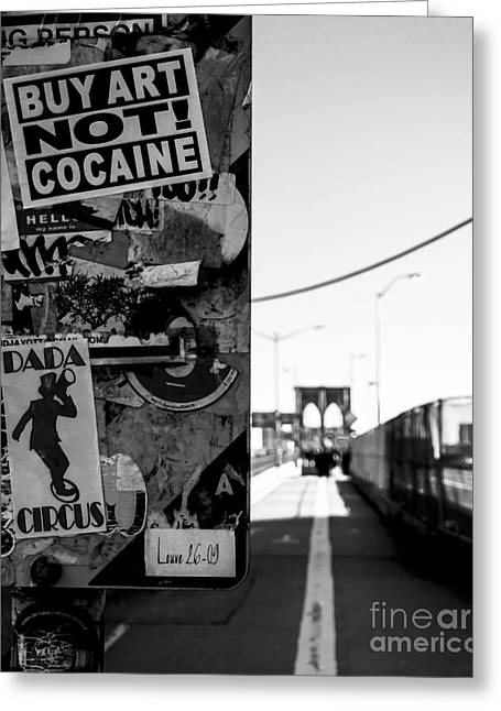 Historic Home Greeting Cards - Buy Art NOT Cocaine Greeting Card by James Aiken