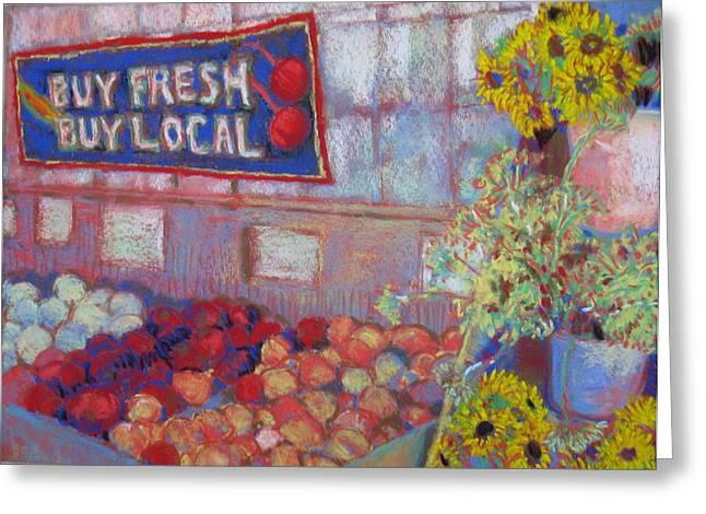 Buy Local Greeting Cards - Buy Fresh Buy Local Pleasant Hill Greeting Card by Pamela Fox