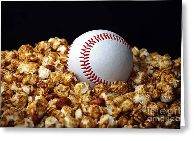Baseball Photographs Greeting Cards - Buy Me Some Cracker Jack 1 Greeting Card by Andee Design