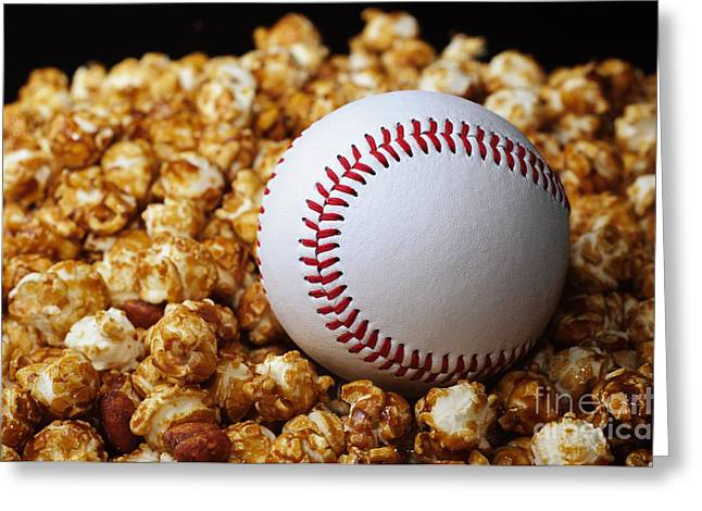 Baseball Photographs Greeting Cards - Buy Me Some Cracker Jack 2 Greeting Card by Andee Design