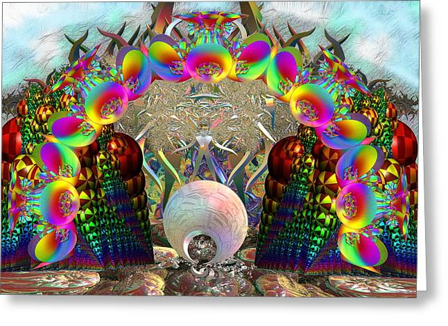 Psychedilic Greeting Cards - Buy the ticket take the ride Greeting Card by Abdel Enlgeze