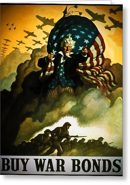 Greatest Generation Greeting Cards - Buy War Bonds Greeting Card by Robert Geary
