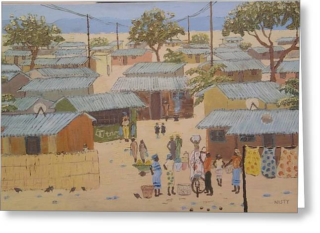 Local Food Paintings Greeting Cards - Buying Maize Greeting Card by Nisty Wizy