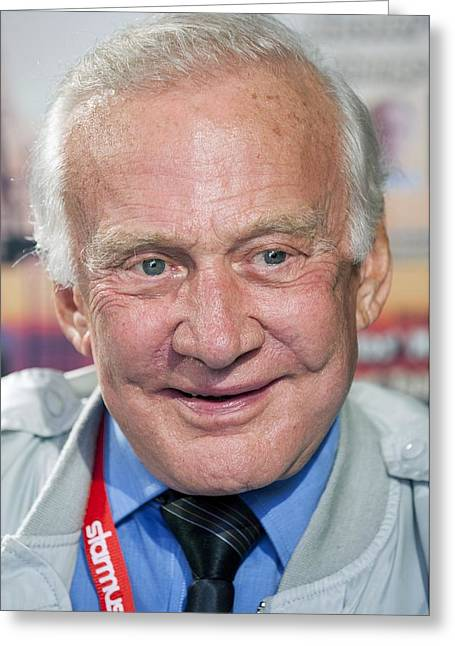 Buzz Greeting Cards - Buzz Aldrin, US astronaut Greeting Card by Science Photo Library