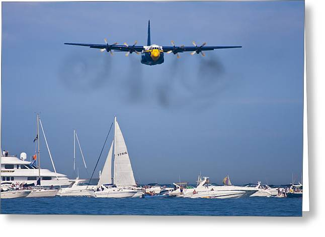 Air Shows Greeting Cards - Buzzing the Crowd Greeting Card by Adam Romanowicz
