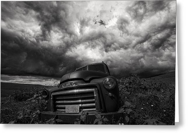 Thunderstorm Greeting Cards - BW Challenge day 1 Greeting Card by Aaron J Groen