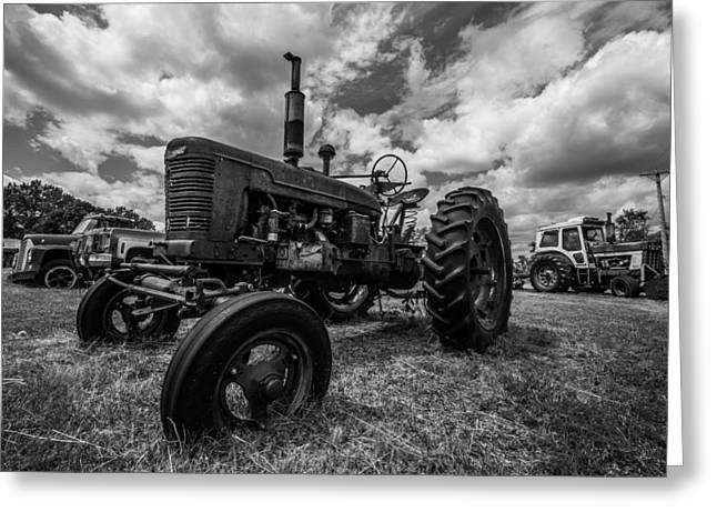 Height Greeting Cards - BWCday4 Tractors Greeting Card by Aaron J Groen