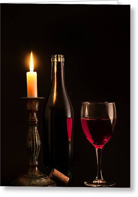 Candle Lit Greeting Cards - By candlelight Greeting Card by Bill  Wakeley