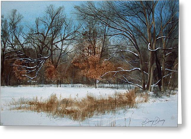 By Rattlesnake Creek Greeting Card by Denny Dowdy