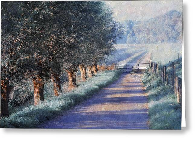 Dreamy Landscape Greeting Cards - By Road of Your Dream. Monet Style Greeting Card by Jenny Rainbow