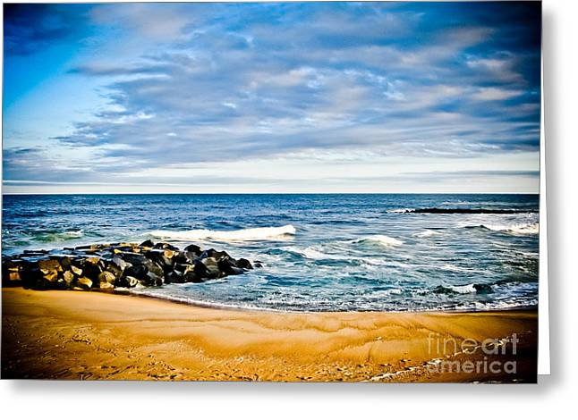By The Beautiful Sea Greeting Card by Colleen Kammerer