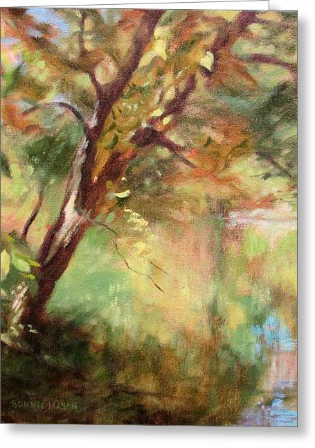 Loose Greeting Cards - By the Greenway in Autumn- along the Roanoke River Greeting Card by Bonnie Mason