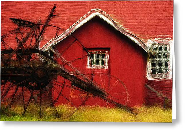 Cattle-shed Greeting Cards - By The Mill House Greeting Card by Jack Zulli